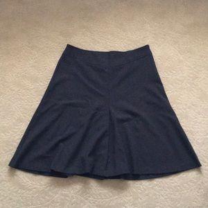Wool Blend A-Line Skirt - Size 12